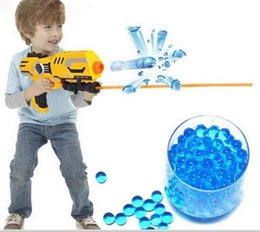 Wholesale Bullet Nerf - 10000 pcs Soft Crystal Bullet Water Gun Paintball Bullets Orbeez Gun Toy crystal water balls Nerf Bibulous Air Pisol Toy for Boy Children