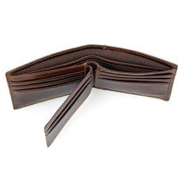 Wholesale Wallet Size For Men - RFID Blocking Genuine Leather Wallet for Men Brand Credit Card Wallet Holder Purse Ultra Slim Mini Size Wallet ID Window Card Case