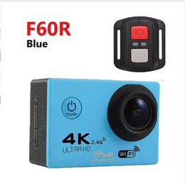 2019 rf wifi camera RF 2.4 Controllo remoto 4K 30FPS Sport DV H12R 30M Impermeabile Action Camera WIFI Control 2.0 '' Display Sport Camera 6 colori 10pcs rf wifi camera economici
