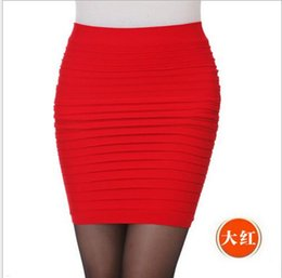 Wholesale White Satin Pencil Skirt - Womens Mini skirt new high waist short Skirt work formal A line Stretch club wear skrits pencil Casual Skirts for woman