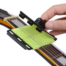 Wholesale Bass Bodies - 2017 Guitar Strings Cleaner Guitar Bass Cleaning Tool Strings Scrubber Cleaner Instrument Body Cleaning Tools
