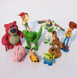 Wholesale Buzz Toy Story - DHL free shipping Toy Story 3 9pcs lot 5-12cm Buzz Lighter Woody Jessie action Figures PVC Action Figure Model toys Christmas gift toy