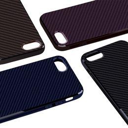 Wholesale Carbon Fiber Gold - For iPhone 8 plus case Carbon Fiber Armor Case Cover slim black durableFlexible Soft TPU Case for Apple iPhone 6 6S 7