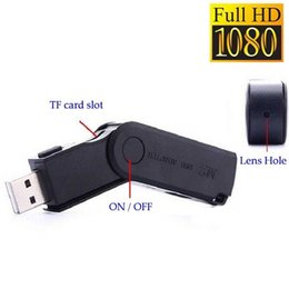 Wholesale Dvr Full Hd Recorder - Full HD 1920x1080 Mini Hidden Spy Camera USB Disk HD Video Recorder DVR Cam Camcorder Free Shipping