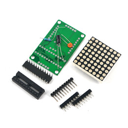 Wholesale Dot Matrix Arduino - Hote Sale MAX7219 Dot matrix module display module DIY kit SCM single-chip Singlechip control module Unassembled for arduino