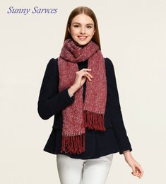 Wholesale University Rings - Europe and America fall winter fashion warm university students fashion beautiful long scarf solid color tassel scarf dual-use shawl spot
