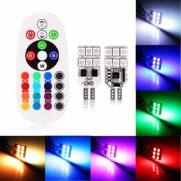 2019 preços dos carros smd Universal 2 pçs / set Controle Remoto 6 LED / 12 LED T10 Interior Do Carro RGBW LEVOU Luz de Leitura de Cúpula DC 12 V SMD 5050 Lâmpadas de Luz Do Carro Sourse