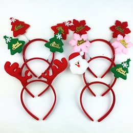 Wholesale Children Metal Headband - NEW Adult children Christmas headband head buckle foreign trade Christmas decoration supplies performance props free shipping