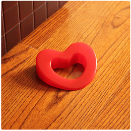 Wholesale Cute Door Stoppers - Wholesale- Cartoon Cute Love Shape Silica Gel Door Stopper Baby Safety Supplies Protect Baby Children Kid Safe