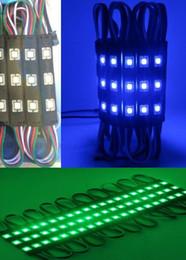 2019 schwarzes licht led-modul SMD5050 führte Modul-Licht 3LED schwarze RGB-Einspritzung LED-Module mit Objektiv DC12V imprägniern IP65 Modul-Licht FREIES VERSCHIFFEN MYY günstig schwarzes licht led-modul