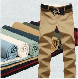Wholesale Slim Fit Business Pants - Wholesale-Plus Size 42 Spring Summer Mens Pants Cotton Thin Slim Fit Casual Men Business Classic Dress Pants 9Colors