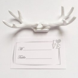 Wholesale Number Props - Antler Seat Clamp European Style Table Decor Name Clip Guest Memo Number Folder Wedding Props And Gifts 3 8yk F R