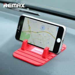 Wholesale Silicone Car Mats - Remax car phone holder Soft Silicone Anti Slip Mat mobile phone mount stands Bracket support GPS for iphone 5 6 6s plus samsung