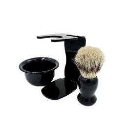 Wholesale Mug Hair - NEW Shaving Tool Set Men's Gift Drip Brush Stand + Best Badger Hair Brush + Bowl Mug free shipping