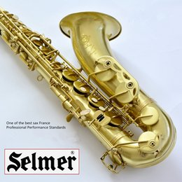 Wholesale 54 Tenor - Wholesale-DHLFree Shipping Selmer Tenor Saxophone drawing Copper Brass Nozzle 54 Professional Sax b