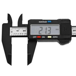 Wholesale Electrical Gauge - 150mm 6 inch LCD Digital Caliper Carbon Fiber Vernier Gauge Micrometer Measuring Tool for industrial and automotive applications