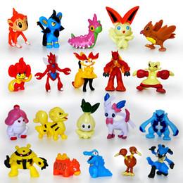 Wholesale Big Puppets - 24 pcs lot Poke monster mini random Pearl Figures puppets Free Shipping Poke monster toys for kids children toys