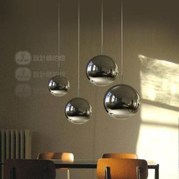 Wholesale Glass Plate Pendant Light - Modern style living room bedroom minimalist restaurant High quality plated pendant light Nordic decoration mirror glass ball Pendant lamp