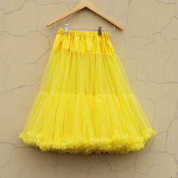 Wholesale Ladies Pettiskirt Skirts - 60CM Adult Long Pettiskirt Teen Girls Women Party TuTu Skirts Lady Skirt Soft Chiffon Adult pettiskirt tutu Free Shipping
