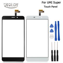 super tela de frete grátis Desconto Atacado-UMI Super Touch Screen painel de toque original perfeito reparar peças para UMI Super 5.5 polegadas acessórios móveis frete grátis