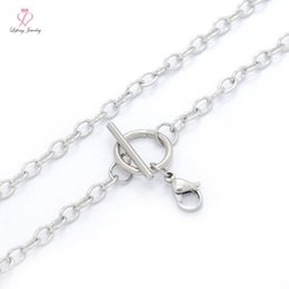 Wholesale Cheap Floating Charms Lockets - Fashion Cheap 16''-32'' 4mm Stainless Steel Silver O Link Toggle Necklace Chains For Floating Charm Lockets,No Locket C141