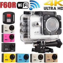 Videocámara de buceo online-F60R con 2.4G cámara de acción 4K remota 170D Len 1080P 60FPS Cámara de deporte WIFI 30M Casco impermeable videocámara de buceo