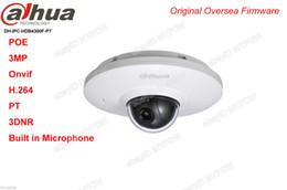 Wholesale Dahua Mini Dome - Dahua IPC-HDB4300F-PT POE 3MP Full HD Bulit-in Mic Network Mini PT Dome Camera