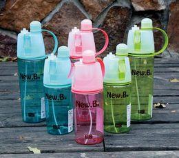 2019 metallschüttlerbecher Neue 600 ML Meine Wasserflasche Sport Sprühflasche 400 ml Radfahren outdoor Feuchtigkeitsspendende Shaker Transparente Reise Kunststoff Wasser Camping Drinkware