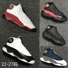 Wholesale Toddlers Boy Shoes Cheap - Cheap Children Athletic Retro Boys Girls 13 XIII Sneakers Youth Kids Sports Basketball Sneakers Toddlers Shoes 22-27