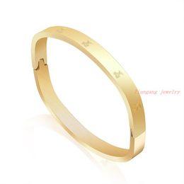 Wholesale Gold Bangle China - Simple Style Bangle Fashion Jewelry Wholesale Men Women Gift Trendy 18K Real Gold Plated Round Bracelets Bangles