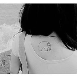 Wholesale Baby Temporary Tattoos - 1pcs Waterproof Temporary Tattoo Sticker Cute Cartoon Baby Elephant Pattern Flash Tattoo Kawaii Fake Tattoo Stickers