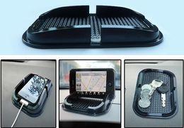 Wholesale Multifunctional Gloves - Large multifunctional car phone holder Car glove box skid pad Mobile phone anti-slip mat Phone pad