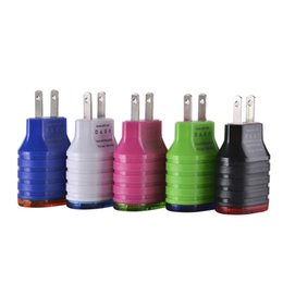 Wholesale Ups Plug Charger - LED Wall Charger Dual USB 2 Ports Light Up Home Travel Power Adapter 5V 3.1A AC US EU Plug For Samsung iphone htc Tablet Mobile Phone