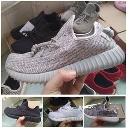 Wholesale Womens Oxfords Lace Ups - [With Box] 2017 Boost 350 Kanye West Pirate Black Turtle Dove Moonrock Oxford TanTurtle Dove White Mens Womens Senakers Running Shoe