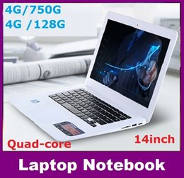 Wholesale Ddr3 Notebook 4gb - factory 14inch Dual core notebook computer 4GB DDR3 750GB intel J1900 J1800 2.41Ghz WIFI webcam windows 7 8 computer dhl