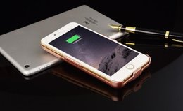Wholesale Iphone Mah Case - 2017 Hot 10000 mAh Power Battery Case External Battery Backup Power Case Charger Cover Power Bank for iPhone 7 7 plus 6s 6 free shipping