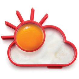 Wholesale sun moulds - Breakfast Creative Silicone Cute Sun Cloud Egg Mold Fried Egg Mold Pancake Mold Kids Diy cooking tools Worldwide Sale HD0014