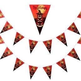 Papier wimpel banner online-Halloween-Dekorationspapierdreieckflaggenwimpelfahnenkarnevalsgirlandenschädelschlägergeisterspinne furchtsame mit einer Keule schlagende Bargeschäft-Parteidekor festlich