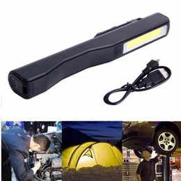 Wholesale Led Lamp Torch Magnetic - 2 in 1 Rechargeable COB LED Camping Inspection Light Lamp Hand Torch Magnetic Portable Lanterns Outdoor Work Inspection Lighting Lamps