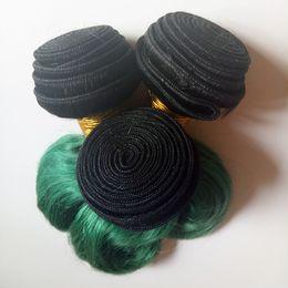 Омбер сексуальный Европейский бразильский девственницы волос тела волна 8-26 дюймов необработанные лучшее качество Индийский монгольский человеческих волос 3 4 5шт два тона 1B / зеленый от