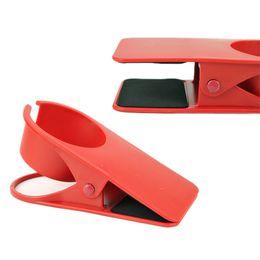 Wholesale Huge Silicone - Wholesale- PHFU Desk Deskside Huge Clip Cup Mug Holder,Red