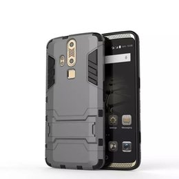 Wholesale Elite Cases - Phone Cases For ZTE AXON Elite Armor Back Good Quality Cover +Stand Holder Shell Shockproof TPU+PC Hard Case For ZTE AXON