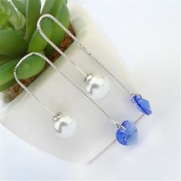 Wholesale Rhinestone Vintage Earrings Pierced - Long Earrings For Wedding Heart Crystal from Swarovski Pierced Earrings For Women Vintage Fashion Imitation Pearl Jewelry 24178