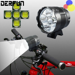 Wholesale Bicycle Headlamp Led - CREE XM-L 5x T6 Bicycle Light Headlight 5600 Lumen LED Bike Lamp Headlamp + 8.4V Charger + 10000mAh Battery Pack