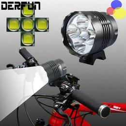 Wholesale Bike Led Headlight Cree - CREE XM-L 5x T6 Bicycle Light Headlight 5600 Lumen LED Bike Lamp Headlamp + 8.4V Charger + 10000mAh Battery Pack
