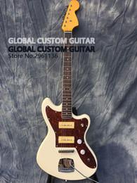 jaguar chitarra nuova Sconti Deluxe chitarra Jaguar elettrica, pickup S-P90, Guitarra, colore bianco, tutti colorano disponibile, reale che mostra foto, il trasporto libero