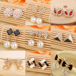Wholesale Cheap Wholesale Animal Charms - Hot Summer Style Pearl Earrings Earrings for women Cheap jewelry Charms Earrings good earrings jewelry pendant Variety of styles
