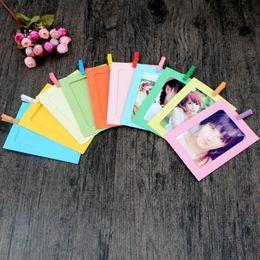 film bilderrahmen Rabatt 10pcs / lot bunte bilderrahmen des regenbogens mini größe bilderrahmen 3 zoll fuji film instax hochzeitsdekoration mode wohnkultur
