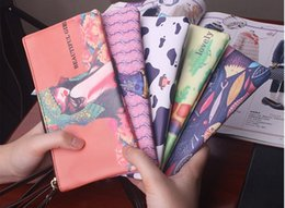 Wholesale Cute Cheap Leather Purses - Cheap Cartoon Print Long Women Purses Cute PU Leather Women's Wallets and Purses
