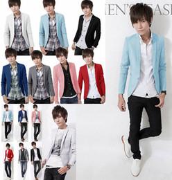 Wholesale Long Sleeve Fancy Tops - Blazer Men Top Quality Colorful Mens Blazer Jacket Italian Suits Brands Fancy Suits For Men Party Prom Wedding Dress